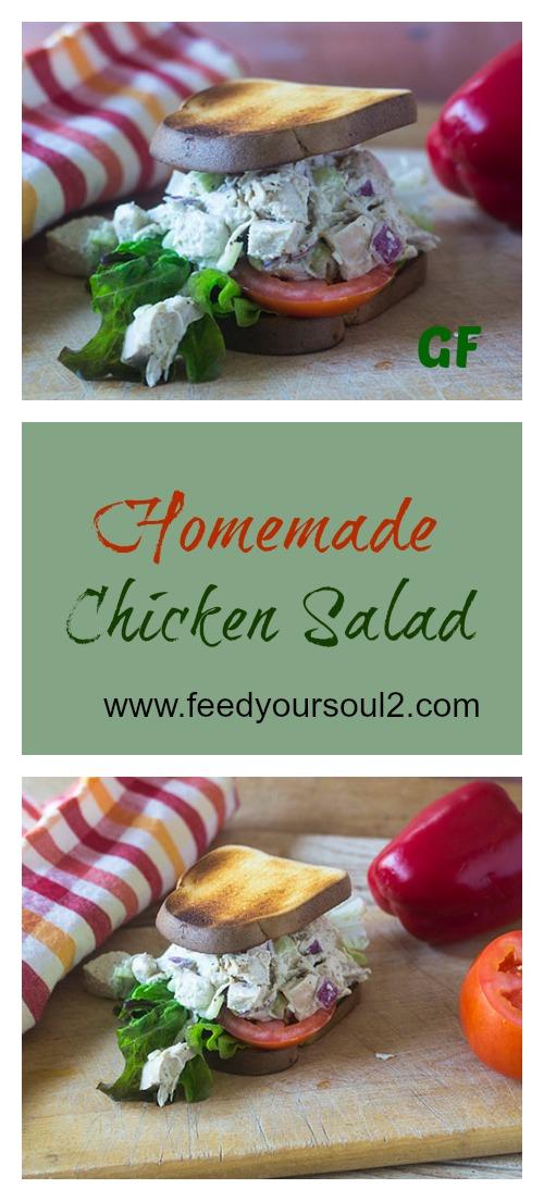 Homemade Chicken Salad #sandwich #chicken #glutenfree | feedyoursoul2.com