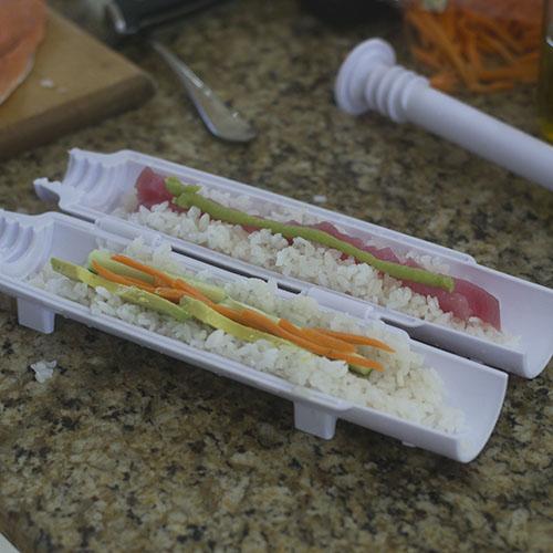 Spicy Tuna Roll in the Sushi Bazooka