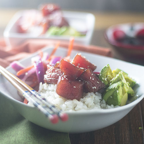 Tuna Poke Bowl from Feed Your Soul Too