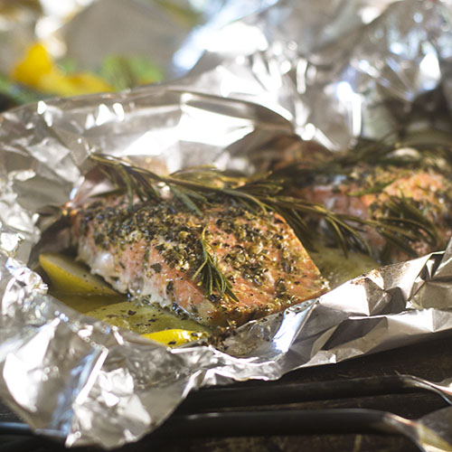 Lemon Rosemary Salmon Foil Packet from Feed Your Soul Too