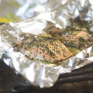 Lemon Rosemary Salmon Foil Packet