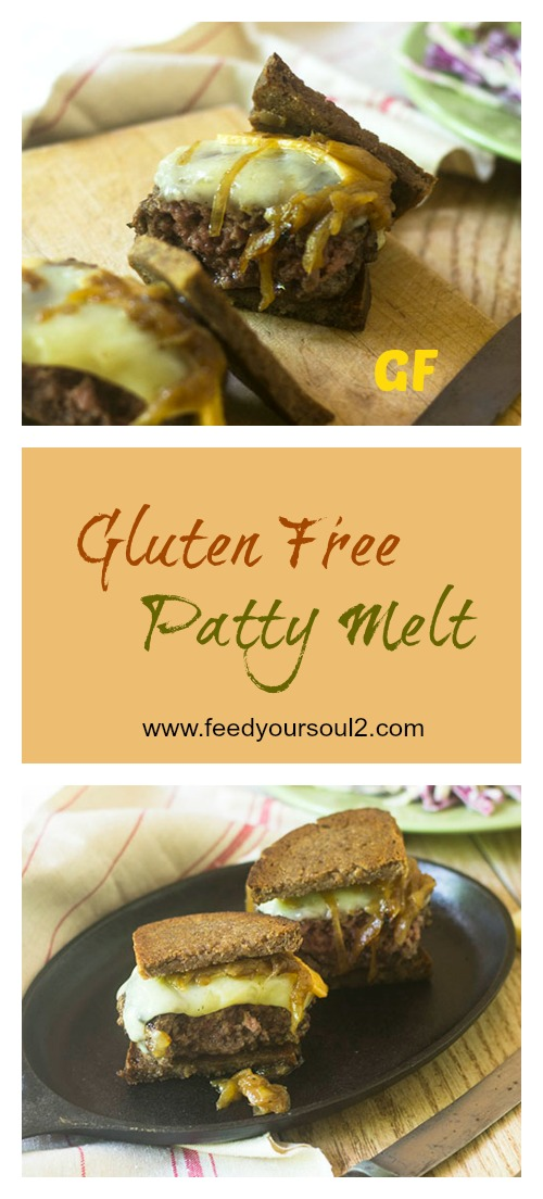 Gluten Free Patty Melt #burger #Onions #glutenfree | feedyoursoul2.com