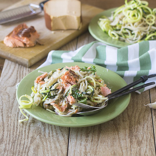 Smoked Salmon Zoodle Alfredo Feed Your Soul Too