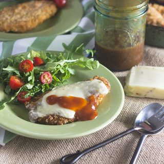 Mexican Chicken Milanese with Enchilada Sauce