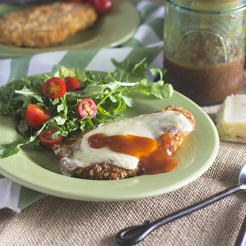 Mexican Chicken Milanese with Enchilada Sauce from Feed Your Soul Too