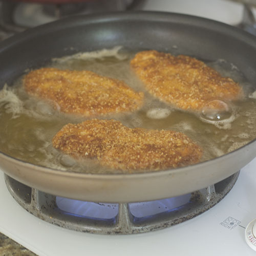 Gluten Free Breaded Chicken Pan Frying