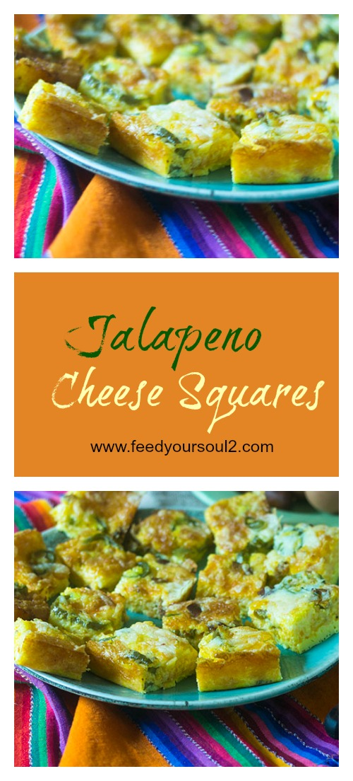 Jalapeno Cheese Squares #appetizer #cheese #glutenfree | feedyoursoul2.com