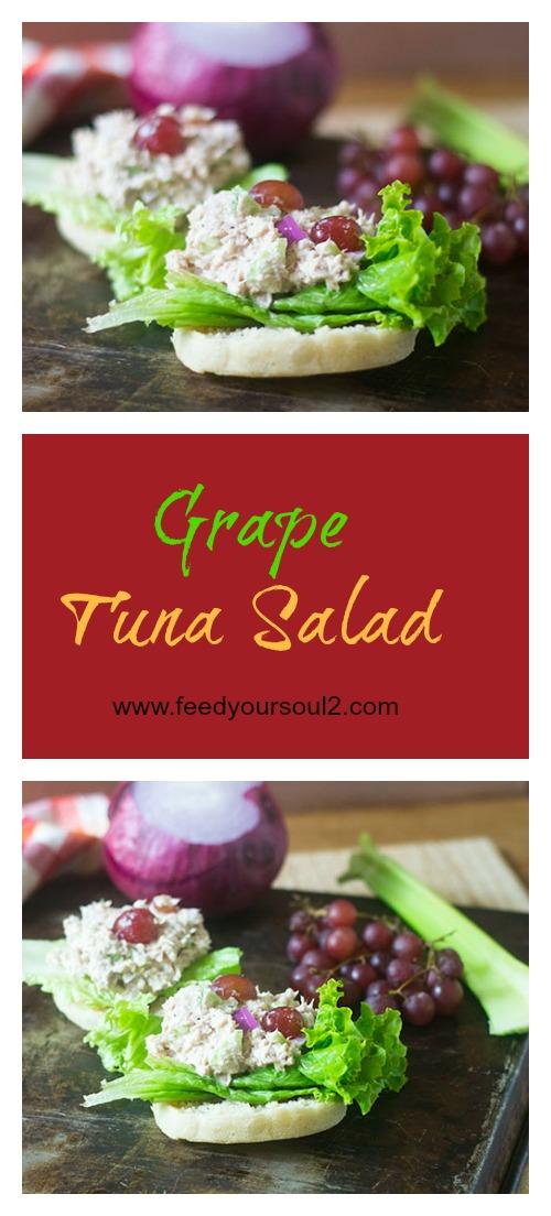 Grape Tuna Salad #sandwich #lunch #tuna #glutenfree | feedyoursoul2.com
