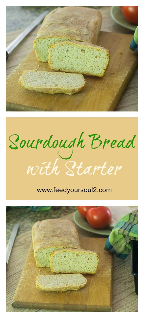 Sourdough Bread with Starter #bread #sourdough #glutenfree | feedyoursoul2.com