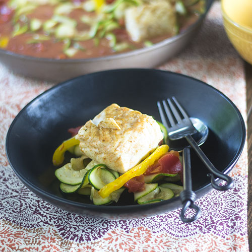 Thai Red Curry Poached Halibut #Thaifood #seafood #glutenfree | feedyoursoul2.com