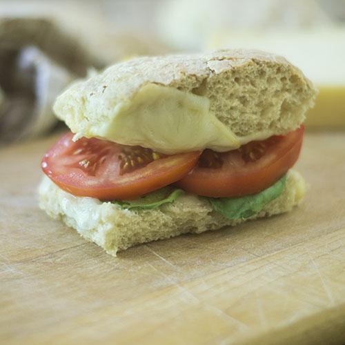 Sourdough Ciabatta Grilled Cheese Sandwich #bread #sourdough #sandwich | feedyoursoul2.com