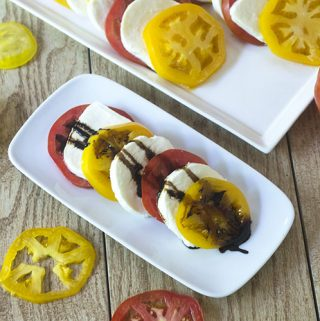 Tomato Mozzarella with Balsamic Reduction