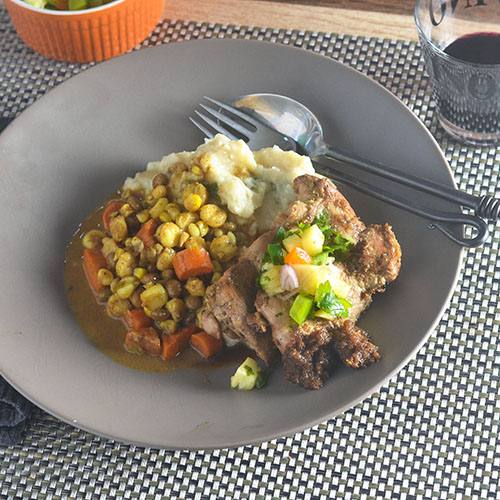 Jerk Chicken with Pineapple Salsa from Feed Your Soul Too