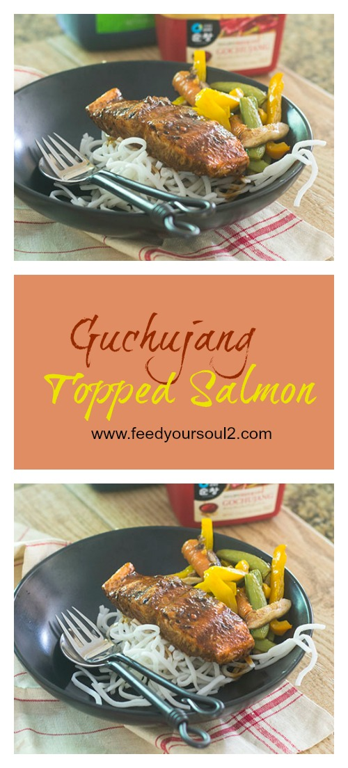 Guchujang Topped Salmon #glutenfree #seafood #guchujang | feedyoursoul2.com