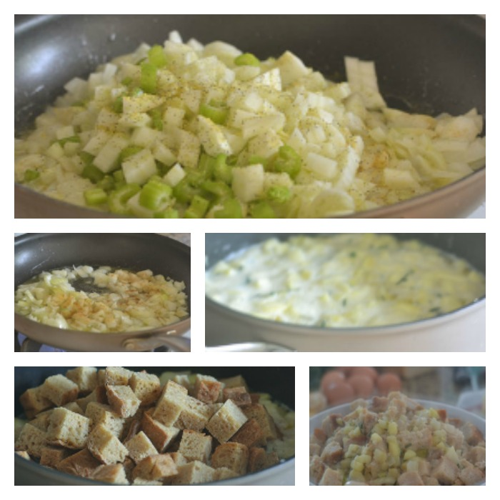 Building of the Apple Fennel Stuffing