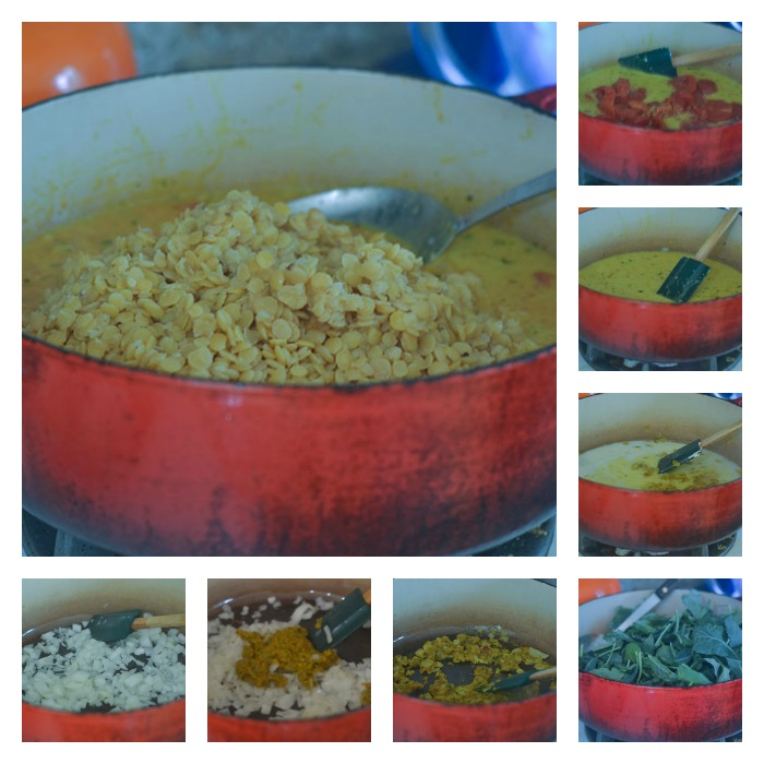 Building of the Yellow Curry Dish