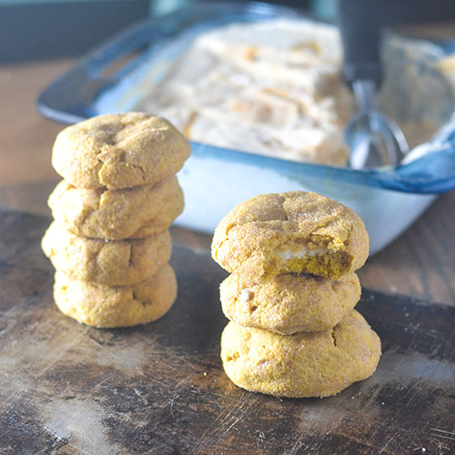 Cream Cheese Filled Pumpkin Snickerdoodles from Feed Your Soul Too