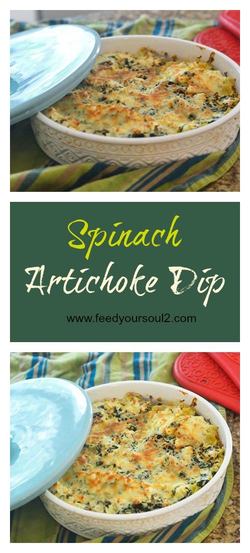 Spinach Artichoke Dip #vegetarian #glutenfree #appetizer #dip | feedyoursoul2.com