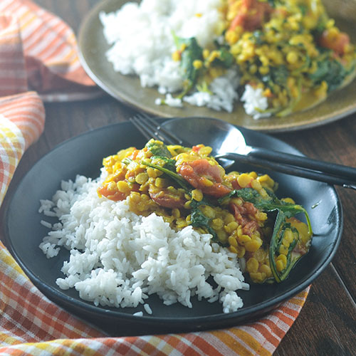 Vegan Yellow Curry Lentils from Feed Your Soul Too