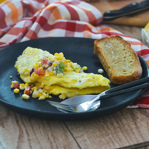 Hatch Chili Cheese Omelet with Corn Salsa from Feed Your Soul Too