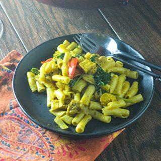 Yellow Curry Chicken Pasta