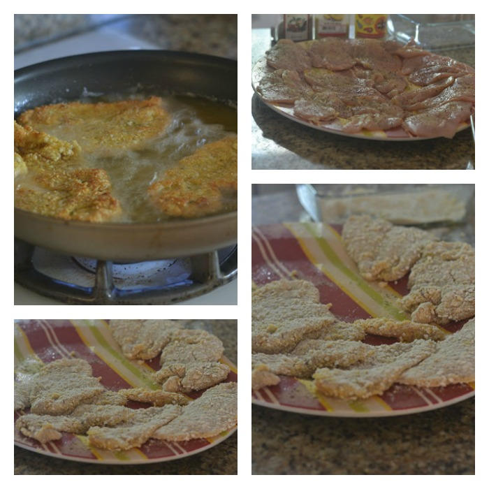 Process of Dredging to Pan Frying the Chicken