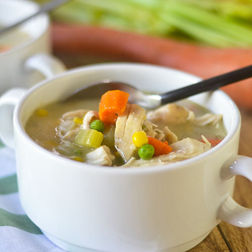Gluten Free Creamy Chicken Vegetable Soup from Feed Your Soul Too