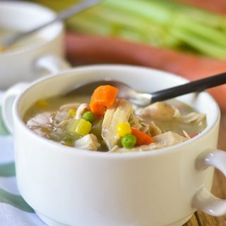 Gluten Free Creamy Chicken Vegetable Soup