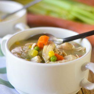 Gluten Free Creamy Chicken Vegetable Soup