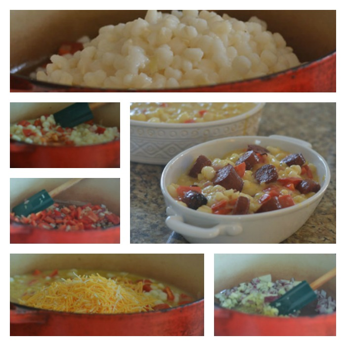 Building of the Hominy Casserole