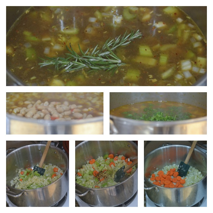 Building of the Vegetable White Bean Soup