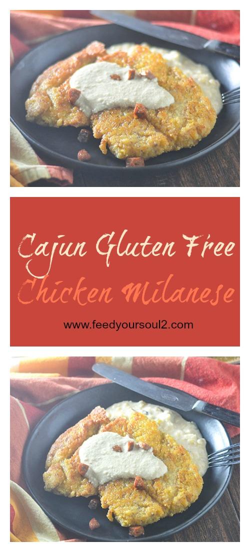 Gluten Free Cajun Chicken Milanese #Cajun #Italian #chicken #glutenfree | feedyoursoul2.com