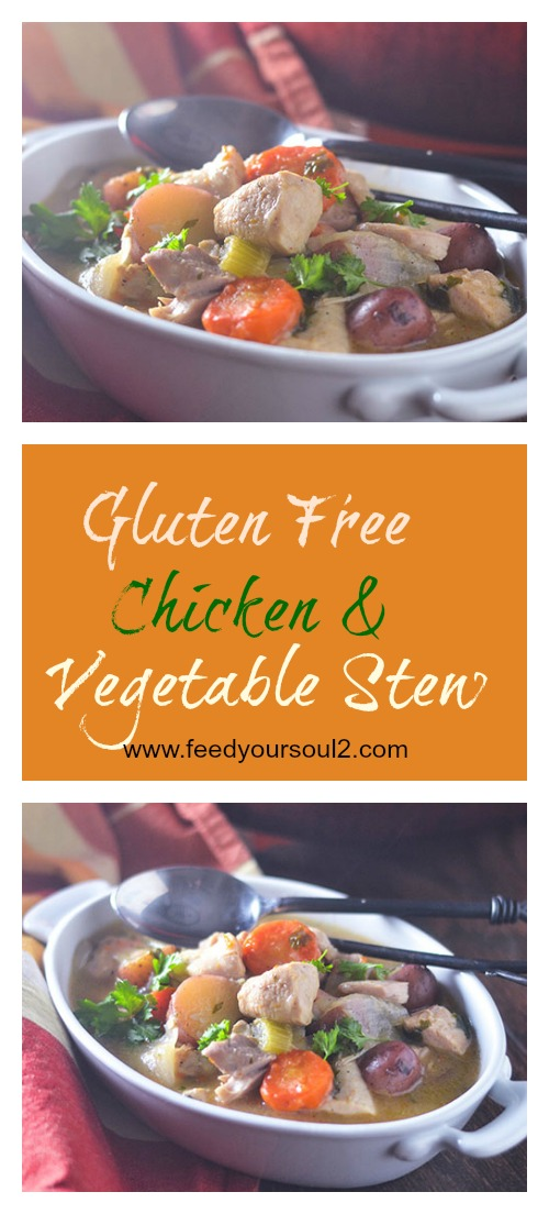 Gluten Free Chicken & Vegetable Stew #Stew #chicken #slowcooking #glutenfree | feedyoursoul2.com