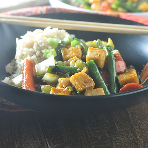 Asian Tofu Stir Fry from Feed Your Soul Too