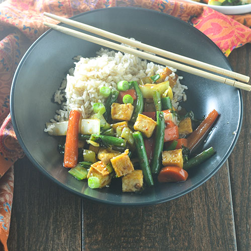 Asian Tofu Stir Fry #veganrecipes #tofu #Asianrecipes #glutenfree | feedyoursoul2.com