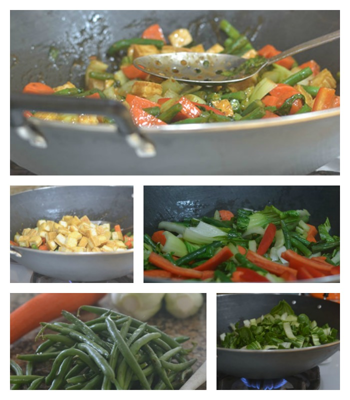 Assembling of the Asian Stir Fry Dish