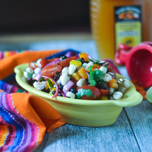 Hominy Black Bean Salad from Feed Your Soul Too