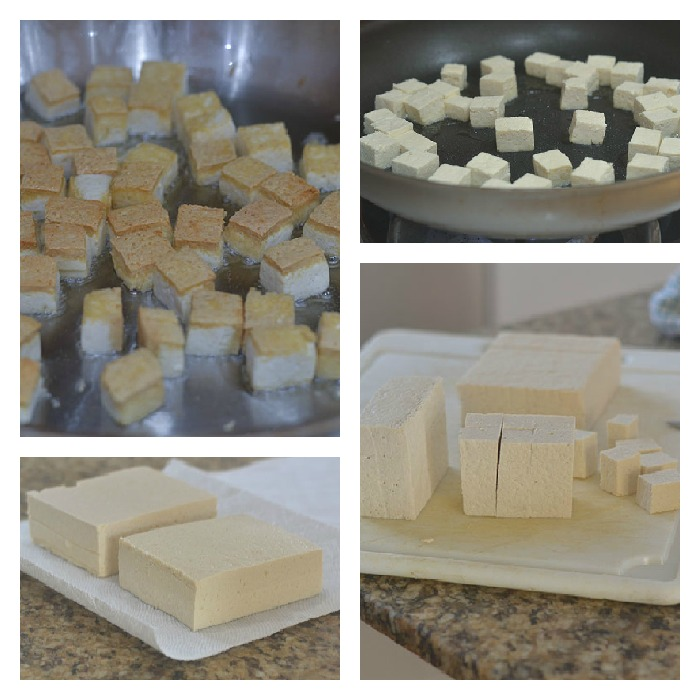 Preparing and Cooking of the Tofu