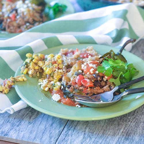 Turkey Chorizo Stuffed Poblanos #turkeyrecipes #poblanos #Mexicanrecipes #glutenfree | feedyoursoul2.com