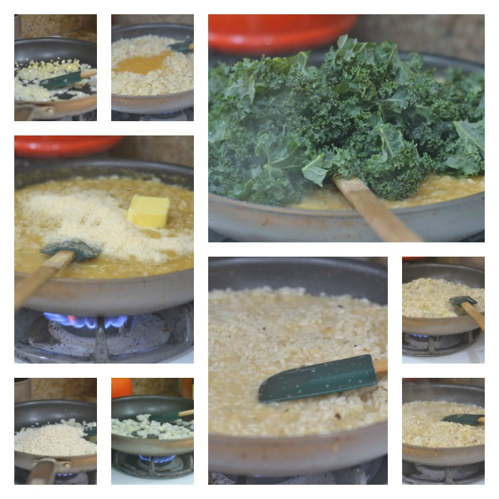 Building of the Butternut Squash Kale Risotto