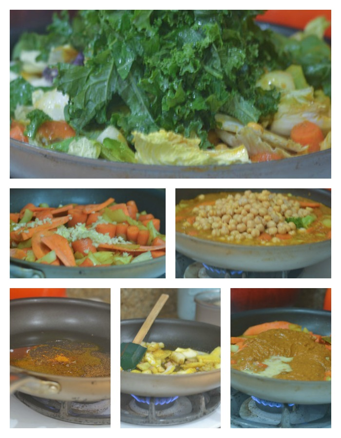 Building the Chickpea Curry Stew