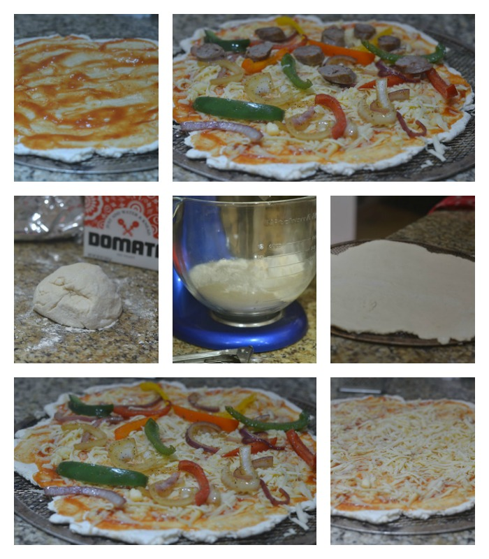 Building of the Sausage & Pepper Pizza