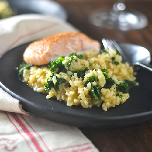 Butternut Squash Kale Risotto from Feed Your Soul Too