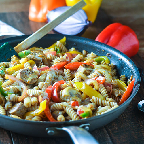 Gluten Free Mexican Sausage Pasta from Feed Your Soul Too