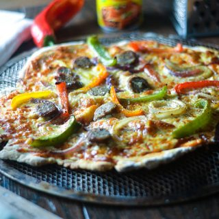 Gluten Free Sausage & Pepper Pizza