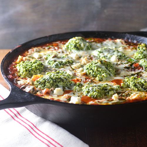 Gluten Free Skillet Pesto Lasagna from Feed Your Soul Too