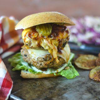 Grilled Onion Turkey Burger