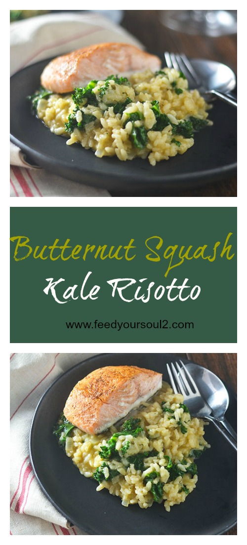 Butternut Squash Kale Risotto #vegetarian #risotto #Italianfood #glutenfree | feedyoursoul2.com