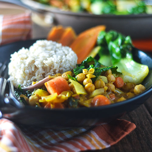 Pumpkin Curry Chickpea Stew from Feed Your Soul Too