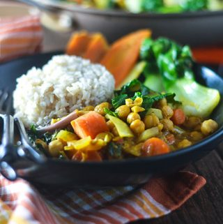 Pumpkin Curry Chickpea Stew